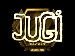 Наклейка   JUGi (золотая)   Лондон 2018