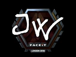 Sticker   JW (Foil)   London 2018