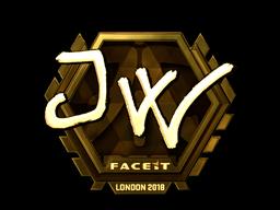 Sticker   JW (Gold)   London 2018