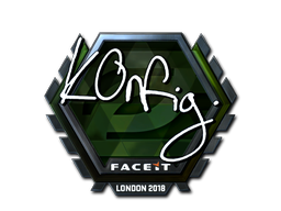 Наклейка   k0nfig (металлическая)   Лондон 2018