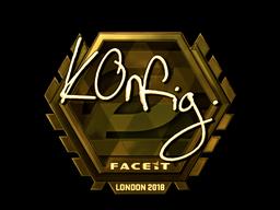 Наклейка   k0nfig (золотая)   Лондон 2018
