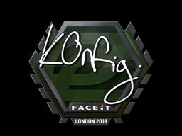 Sticker   k0nfig   London 2018