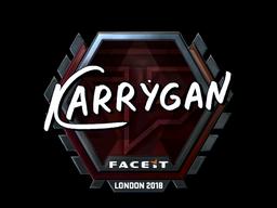 Sticker   karrigan (Foil)   London 2018