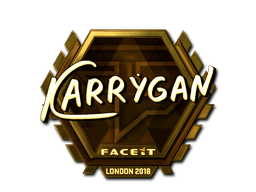 Sticker   karrigan (Gold)   London 2018