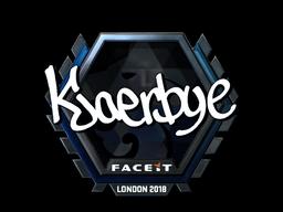 Наклейка | Kjaerbye (металлическая) | Лондон 2018