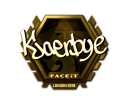 Наклейка | Kjaerbye (золотая) | Лондон 2018