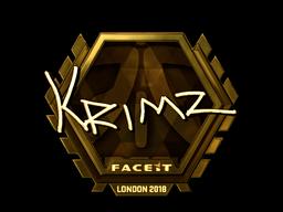 Sticker   KRIMZ (Gold)   London 2018
