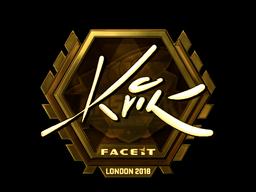 Sticker   Kvik (Gold)   London 2018