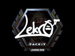 Наклейка   Lekr0 (металлическая)   Лондон 2018