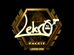 Наклейка   Lekr0 (золотая)   Лондон 2018