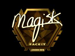 Наклейка | Magisk (золотая) | Лондон 2018