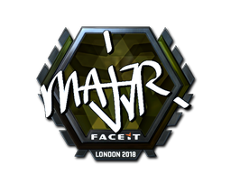 Наклейка | MAJ3R (металлическая) | Лондон 2018