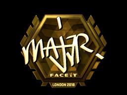 Наклейка | MAJ3R (золотая) | Лондон 2018