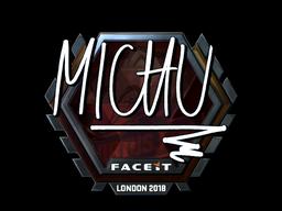 Наклейка | MICHU (металлическая) | Лондон 2018