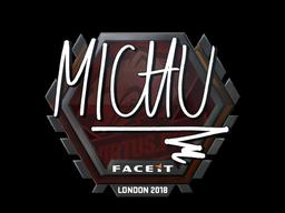 Наклейка | MICHU | Лондон 2018