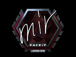 Наклейка | mir (металлическая) | Лондон 2018