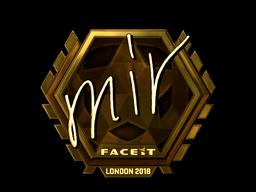 Наклейка | mir (золотая) | Лондон 2018