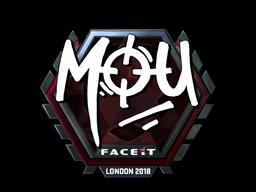 Наклейка | mou (металлическая) | Лондон 2018