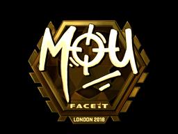 Наклейка | mou (золотая) | Лондон 2018