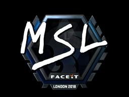 Наклейка | MSL (металлическая) | Лондон 2018