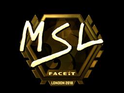 Наклейка | MSL (золотая) | Лондон 2018
