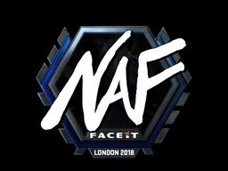 Наклейка | NAF (металлическая) | Лондон 2018