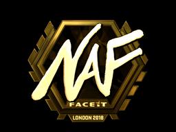 Наклейка | NAF (золотая) | Лондон 2018