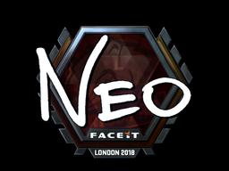Наклейка | NEO (металлическая) | Лондон 2018