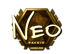 Наклейка | NEO (золотая) | Лондон 2018