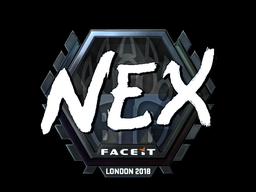 Наклейка | nex (металлическая) | Лондон 2018