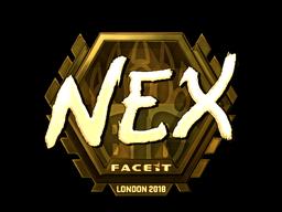 Наклейка | nex (золотая) | Лондон 2018
