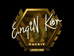 Наклейка | ngiN (золотая) | Лондон 2018