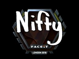 Наклейка   Nifty (металлическая)   Лондон 2018