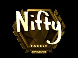 Наклейка   Nifty (золотая)   Лондон 2018