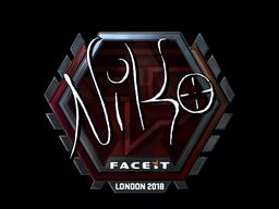 Sticker   NiKo (Foil)   London 2018