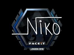 Наклейка | niko (металлическая) | Лондон 2018