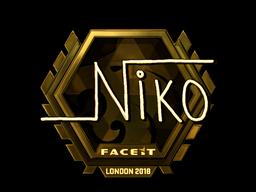 Наклейка | niko (золотая) | Лондон 2018