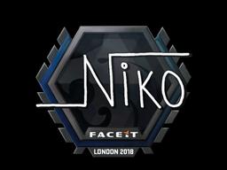 Наклейка | niko | Лондон 2018
