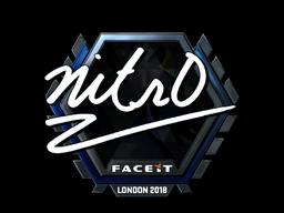 Наклейка | nitr0 (металлическая) | Лондон 2018