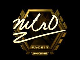 Наклейка | nitr0 (золотая) | Лондон 2018
