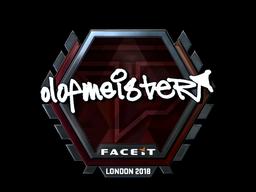 Sticker   olofmeister (Foil)   London 2018
