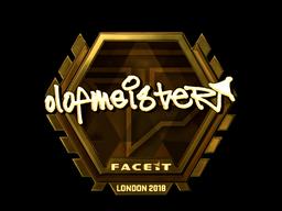 Sticker   olofmeister (Gold)   London 2018