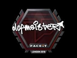 Sticker   olofmeister   London 2018