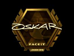 Sticker   oskar (Gold)   London 2018