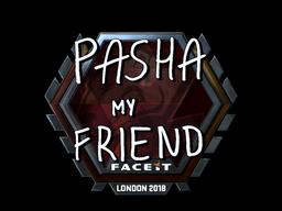 Наклейка | pashaBiceps (металлическая) | Лондон 2018