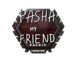 Наклейка | pashaBiceps | Лондон 2018