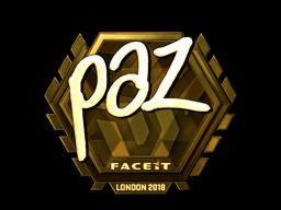 Наклейка | paz (золотая) | Лондон 2018