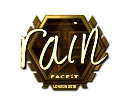 Sticker   rain (Gold)   London 2018