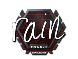 Sticker   rain   London 2018