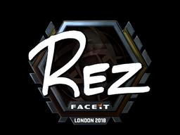 Наклейка   REZ (металлическая)   Лондон 2018